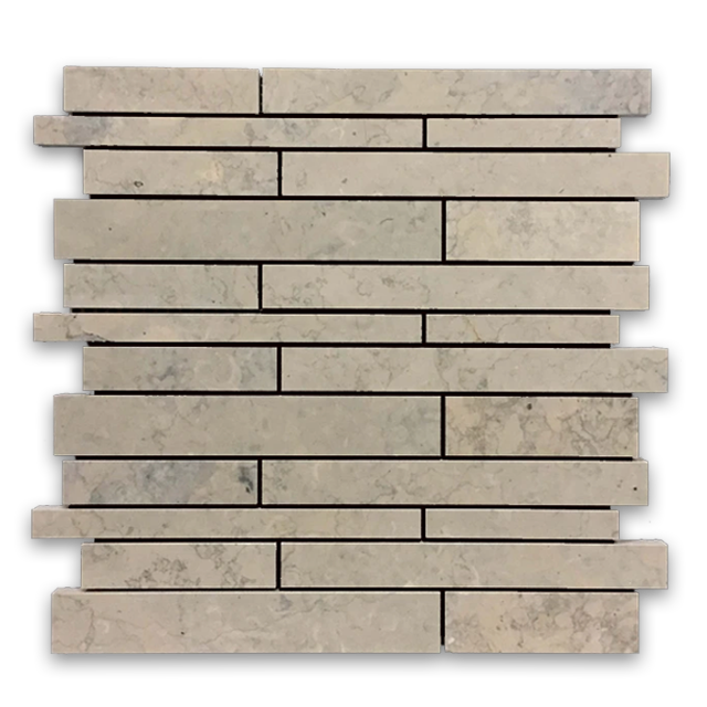 **LIMITED STOCK** Quartier Parisien European Limestone Multiwidth Mosaic Honed - Elon Tile