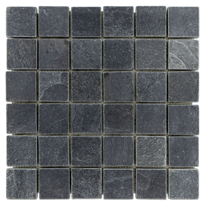 "Midnight 2"" Mosaic Tumbled & Brushed (1.00 sf) - Elon Tile"
