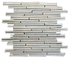 White Quartzite Mini Random Strip Mosaic