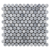 "Pacific Gray 1"" Rounds Mosaic"
