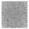 "Pearl White 1/2"" Rounds Mosaic Polished (1.04 sf)"