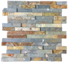 "Rustic Multicolor Slate 6"" x 24"" Interlocking Ledgerstone"