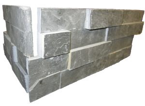 **DISCONTINUED** Midnight Slate 2 Piece Interlocking Ledgerstone Corner - Elon Tile