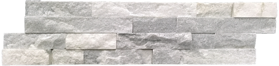 "**LIMITED STOCK** Silver Sky 6"" x 24"" Interlocking Ledgerstone (Packed @ 6) - Elon Tile"
