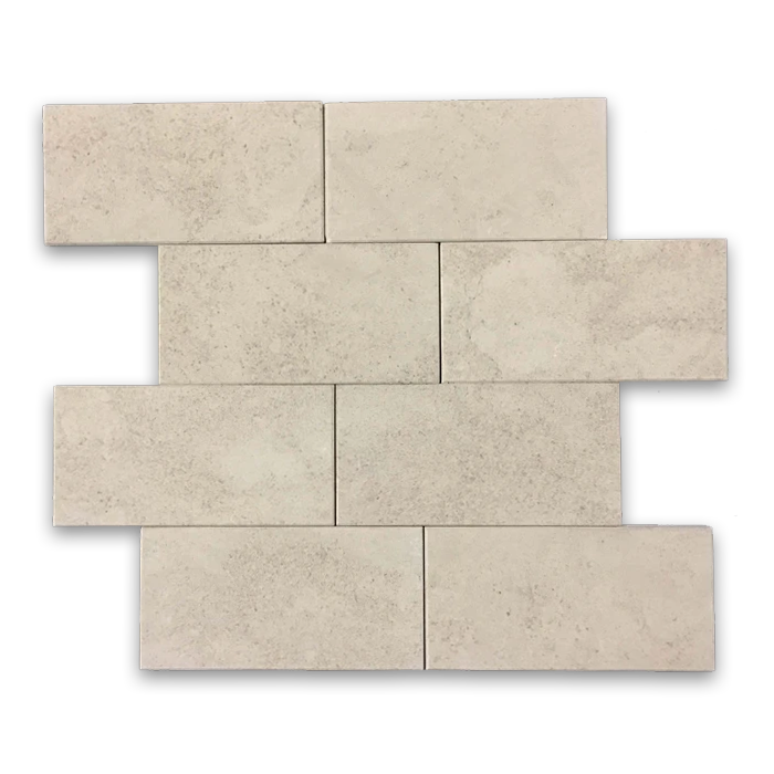 "**LIMITED STOCK** Vague De Fleurs European Limestone 3"" x 6"" Honed - Elon Tile"