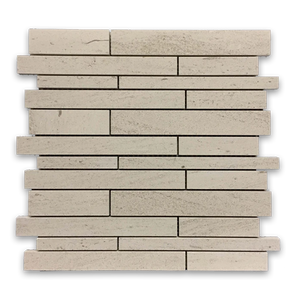 **LIMITED STOCK** Vague De Fleurs European Limestone Multiwidth Mosaic Honed - Elon Tile