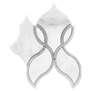 Pearl White Tulip with Mystic Gray Waterjet Polished (0.49 sf)