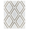 Carrara Jewel with White Thassos and Sand Dollar Polished (0.87 sf) - Elon Tile