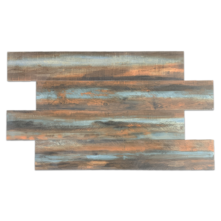"**LIMITED STOCK** Multi 8"" x 48"" Wood Porcelain - Elon Tile"