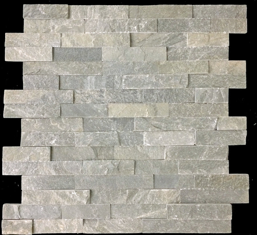 "**LIMITED STOCK** Topaz Quartzite 6"" x 24"" Interlocking Ledgerstone Cleft - Elon Tile"