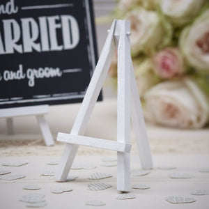 White Mini Wooden Easel Stands