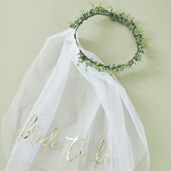 Eucalyptus Bride To Be Crown And Veil