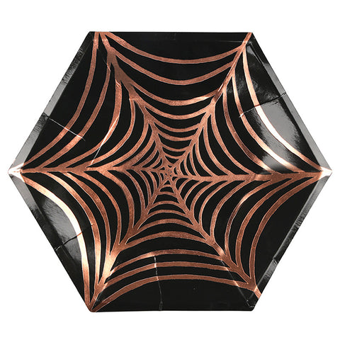 Large Spider's Web Party Plates