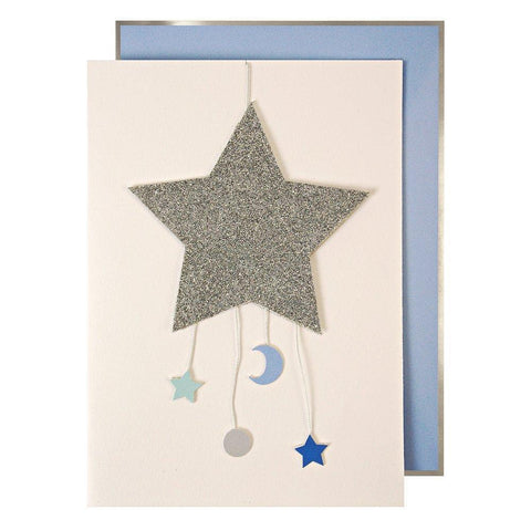 Baby Boy Star Mobile Greeting Card