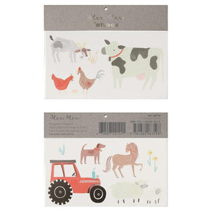 On The Farm Temporary Tattoos