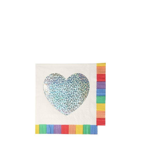 Rainbow Fringe Small Napkins