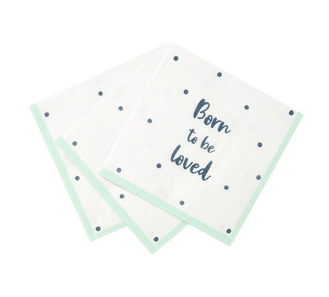Born To Be Loved Paper Napkins