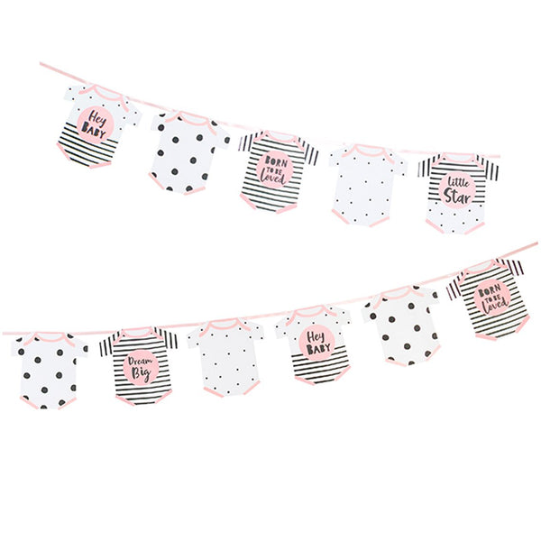Pink Baby Romper Shaped Garland