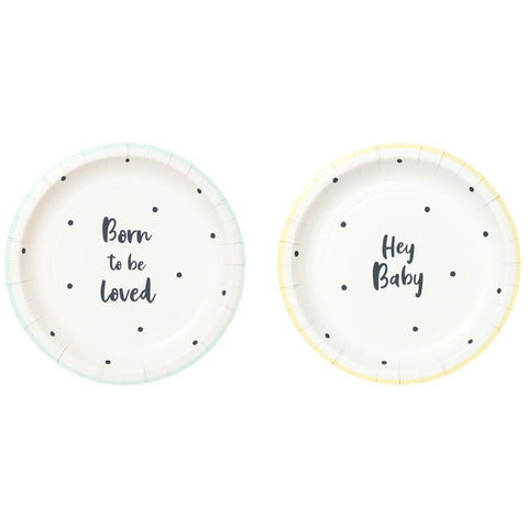 Born To Be Loved Paper Plates