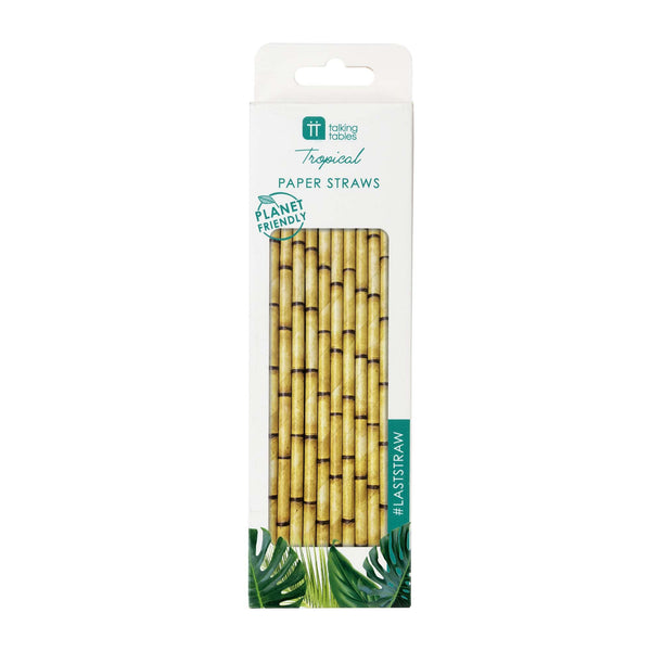 Planet Friendly Bamboo Design Paper Straws
