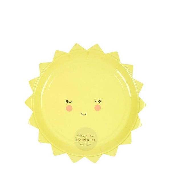 Happy Sun Small Paper Plates