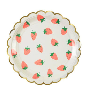 Strawberry Large Paper Plates