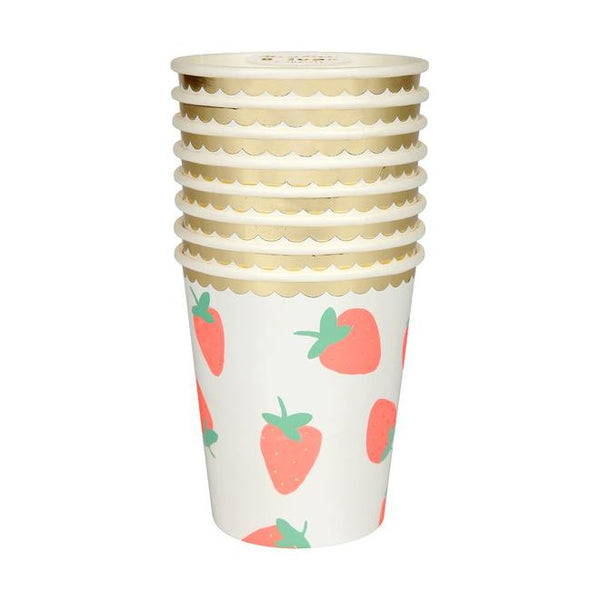 Strawberry Paper Cups