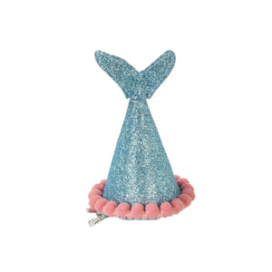 Mermaid Tail Clip-On Party Hat - Aqua Blue