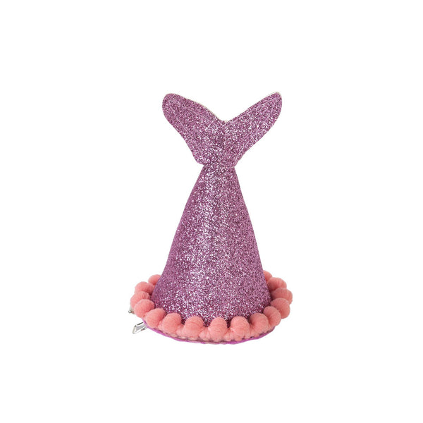 Mermaid Tail Clip-On Party Hat - Purple/Pink Mix