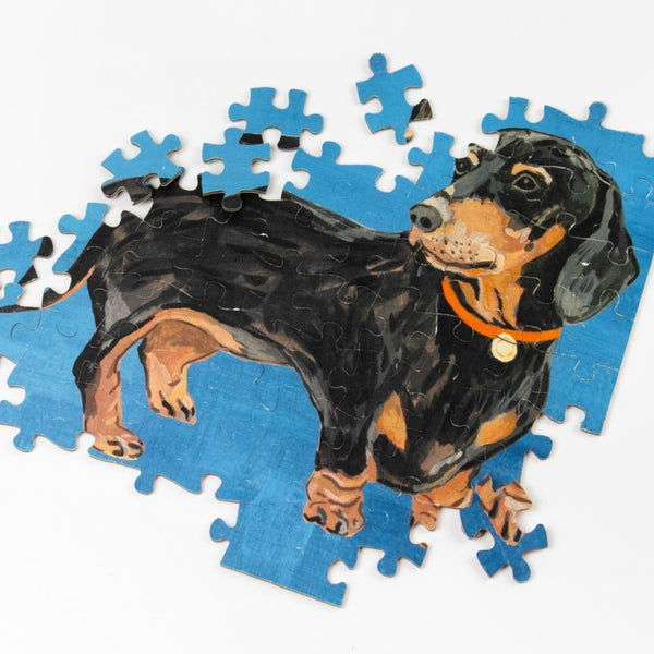 Doubled Sided Dachshund Jigsaw Puzzle 100 Pieces