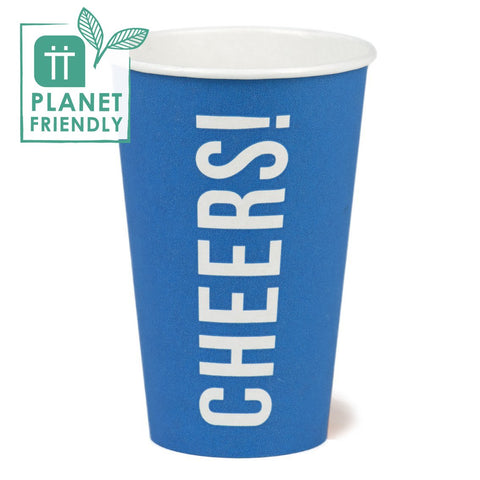 Planet Friendly - CHEERS! Large Blue Paper Cups