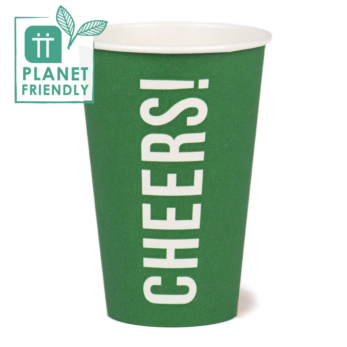 Planet Friendly - CHEERS! Large Green Paper Cups