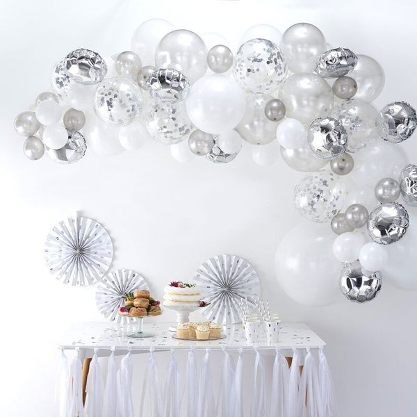 DIY Silver Balloon Arch Kit