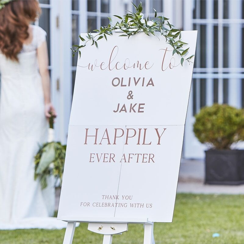 Personalised Wedding Entrance Welcome Sign