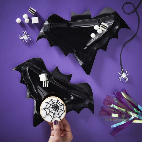 Bat Shaped Paper Plates