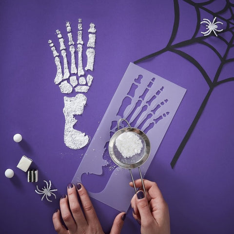 Skeleton Footprint Stencils