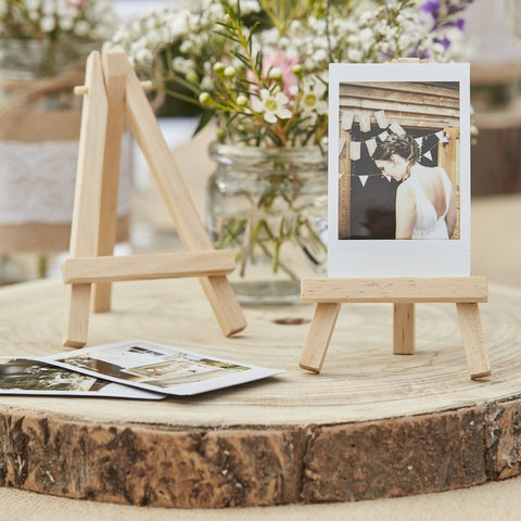 Wedding decorations and supplies ireland the party boutique mini wooden easels junglespirit Choice Image