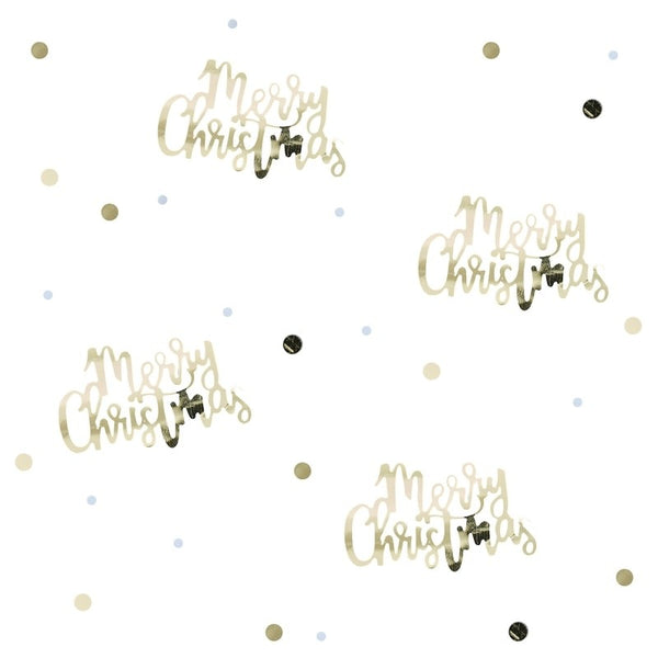 Merry Christmas Gold Confetti