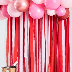 Rose Gold, Red & Pink Streamers