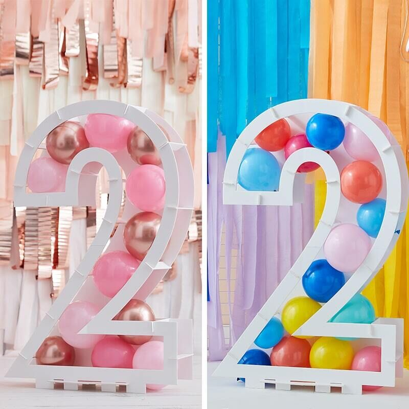 Balloon Mosaic Number Stand 2