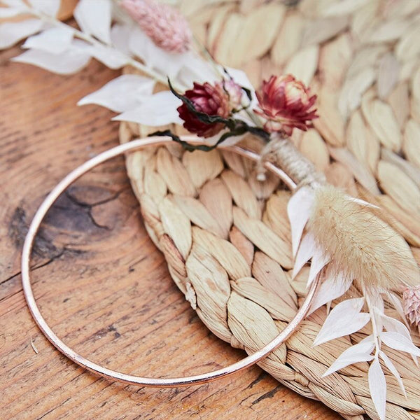 Rose Gold Metal Hoop Place Cards