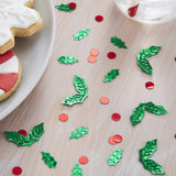 Christmas Holly Shaped Table Confetti