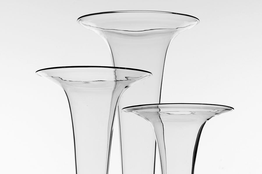 Panache Clear Trumpet Vases 3 Sizes