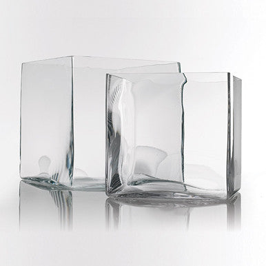 Wedding Events Direct & Cezanne clear square glass vase