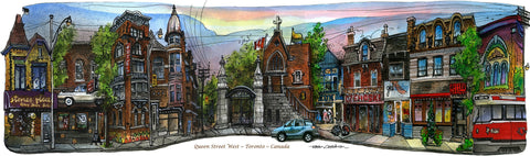 Queen West at Trinity BellwoodsFramed Print