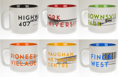 TTC Station Design Mugs, Set of Six