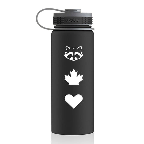 TO Canada with Love ICONS Flask Bottle, Black