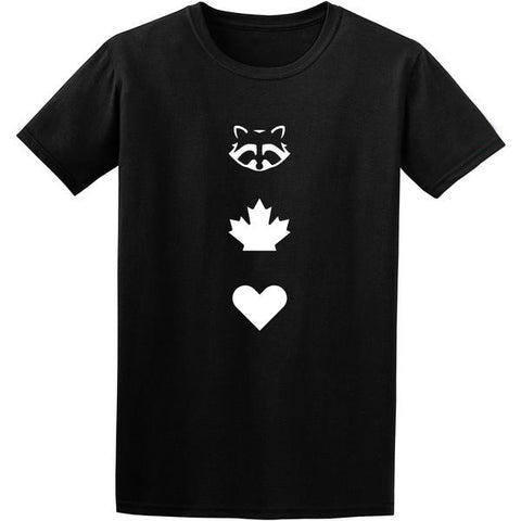 TO Canada with Love ICONS T-Shirt, Black - Men's
