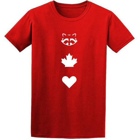 TO Canada with Love ICONS T-Shirt, Red - Men's