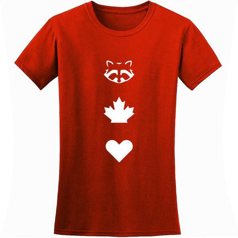 TO Canada with Love ICONS T-Shirt, Red - Ladies'